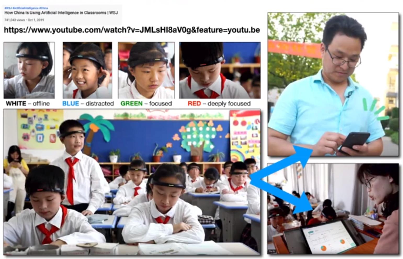 Galvos juostos mokiniams Kinijoje
