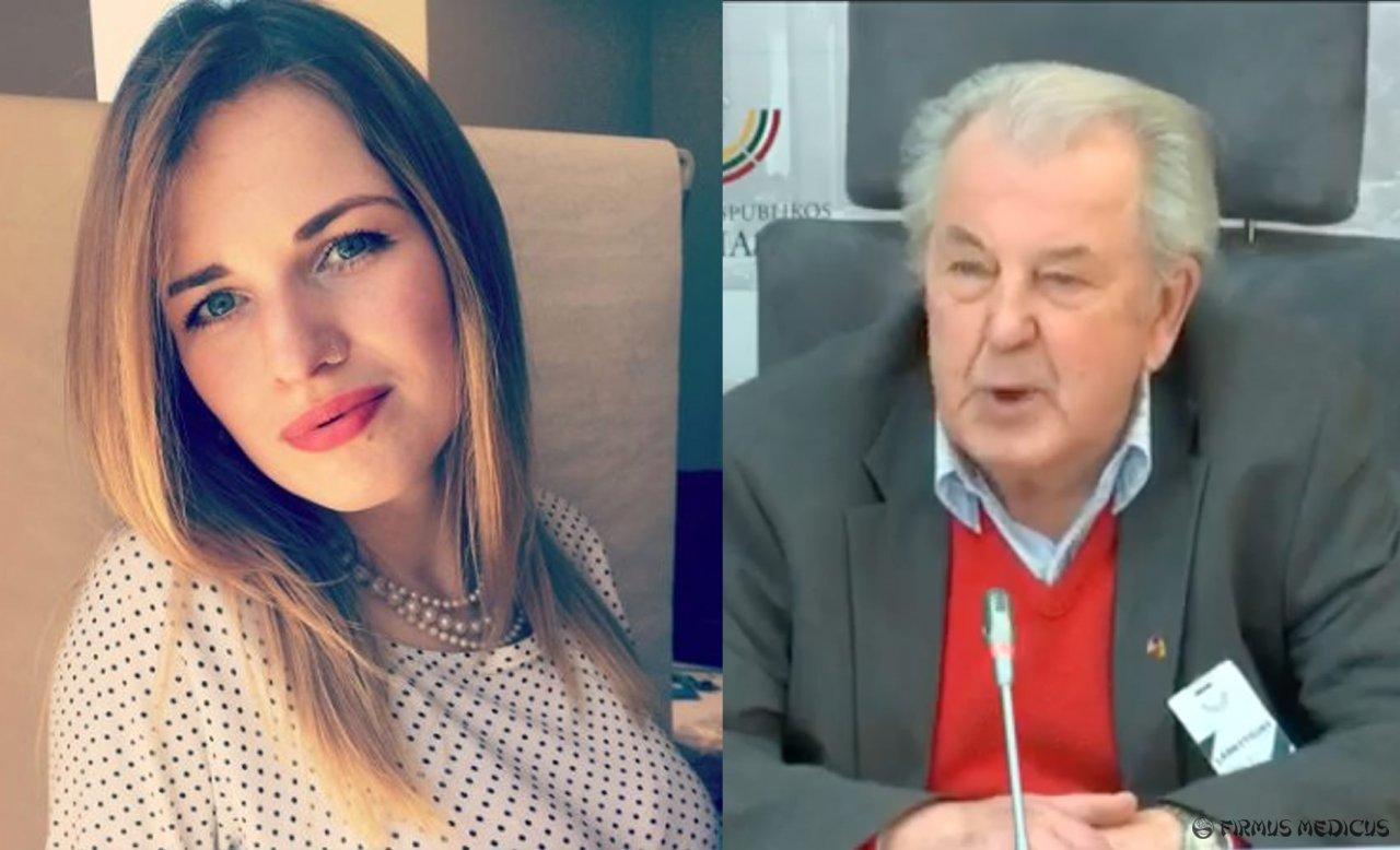 Aistė Meidutė ir prof. Jonas Grigas