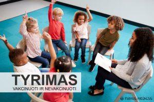 Vakcinuotų ir nevakcinuotų vaikų imlumo ligoms tyrimai